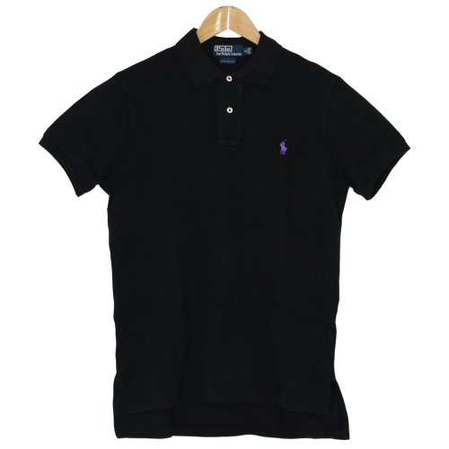 ポロ ラルフローレン(POLO RALPH LAUREN) ポロシャツ メンズ 半袖 CUSTUM FIT(カスタムフィット) 290723【並行輸入品】 01.ブラック×パープル Sサイズ
