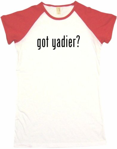 Got Yadier Women's Tee Shirt XL-White/Red Babydoll at Amazon.com