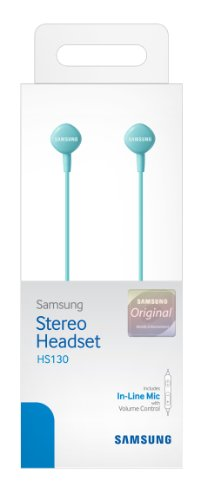 Samsung Hs130 Wired Stereo Earbud 3.5Mm Universal Headset With In-Line Multi-Function Answer/Call Button (Blue)
