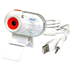 Zonet ZVC7500 1.3MP USB 2.0 Webcam w/Built-in Microphone & LCD Clip-On (White)