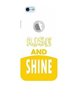 EPICCASE Rise and Shine Mobile Back Case Cover For Apple iPhone 6, 6S Logo Cut (Designer Case)