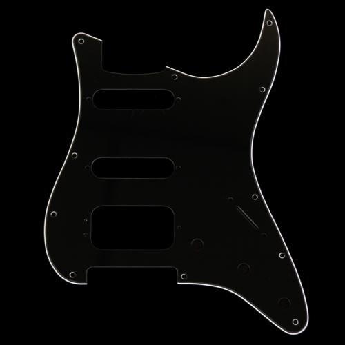 Fender Modern Pickguard, HSS Stratocaster, 11-Hole - Black 3-Ply (3-Screw Hum) (Fender Pickguard Screws Black compare prices)