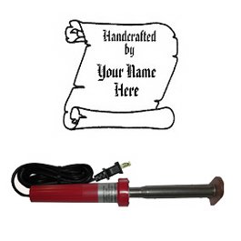 "Branding Iron - Electric Unit Bn-30U Personalized ""Handcrafted By..."" Scroll Design"