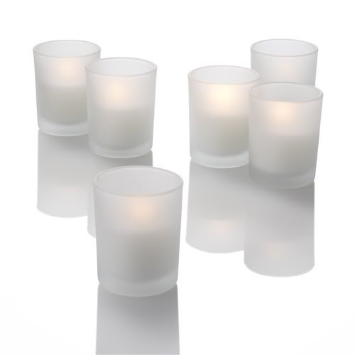 Set of 12 Frosted Eastland Glass Votive Candle Holders