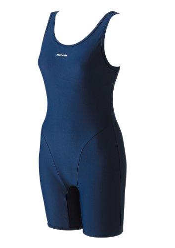 スクールフィットネススーツ水着コン 女子用M 学校水泳授業で人気のオールインワン型スクール水着(前面総裏地付き)