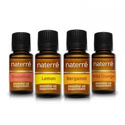 Naterre 100% Pure Essential Oil Kit - Citrus Collection - 5ml, 4 pack
