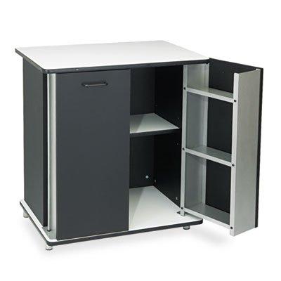 Vertiflex 35157 Refreshment Stand 2-Shelf 29-1/2W X 21D X 33-1/2H Black/White