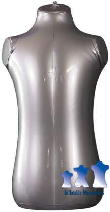 Inflatable Mannequin, Toddler Torso, Silver