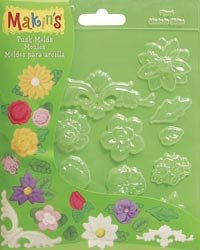 Bulk Buy: Makin's Clay Push Molds Floral M390-5 (3-Pack)