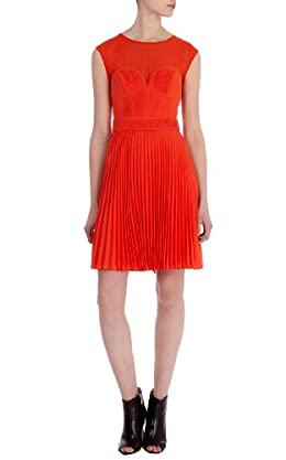 Pintuck Pleated Dress