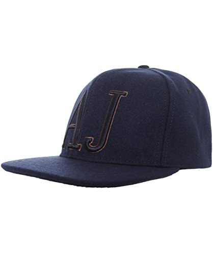Armani Jeans Uomo Berretto da Baseball snapback Unica Taglia Blu