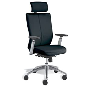 Modern Office Leather Executive Chair Finish: Black