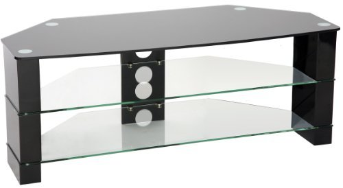 Peerless Manhattan 1000 High Gloss Black Corner TV Stand