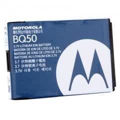 Motorola BQ50 Cell Phone Battery - Proprietary - Lithium Ion (Li-Ion) - 910mAh - 3.7V DC - Non Retail Packaging