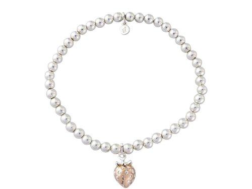 Gemma J Silver and Vermeil Strawberry Bracelet BC304