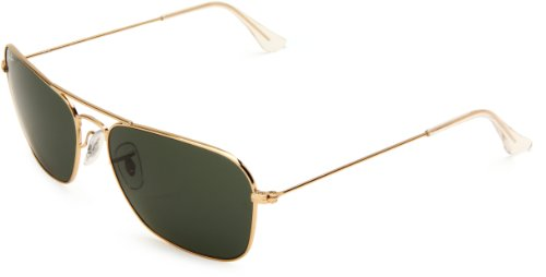 gold ray ban aviators  gold/green