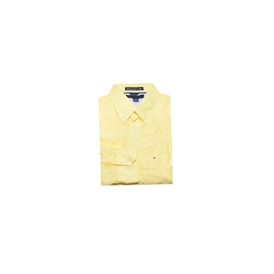 Tommy Hilfiger Men Long SleeveGraduate End on End Logo Shirt (XXL, Wiket yellow)