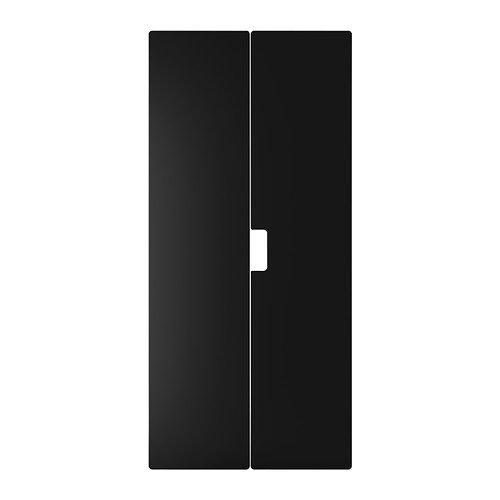 IKEA STUVA MALAD-Porte-Noir-Lot de 2-60 x 128 cm