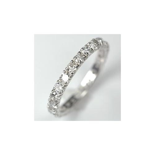 [キュートジュエリー]Cute jewerly ダイヤモンド 指輪 プラチナ ダイヤ1.0ct (鑑別書付) エタニティーリング 12