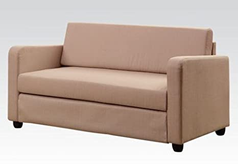Modern Beige Fabric Sleeper Sofa by Acme Furniture