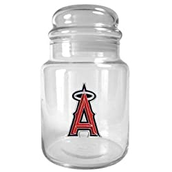 Los Angeles Angels 31oz Glass Candy Jar - Primary Logo MLB Baseball