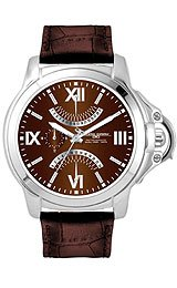 Jorg Gray Leather Multifunction Brown Dial Men's watch #JG1850-15