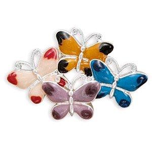 Multicolor Enamel Butterfly Pin