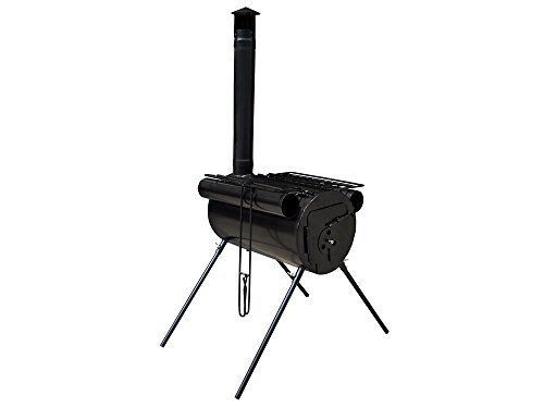 Portable Military Camping Steel Wood Stove Tent Heater for Fishing Camp Cooking Heavy-Duty steel construction (Jenn Oven Parts compare prices)