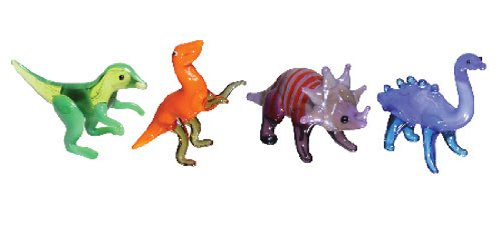 Looking Glass Miniature Collectible - Dinosaurs (4-Pack)