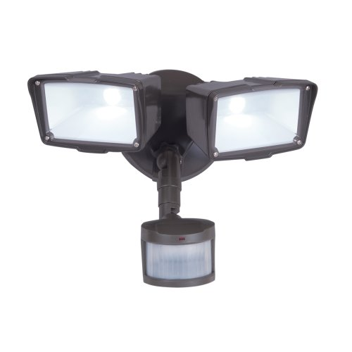 All-Pro Mst27920Les, 270 Degree Motion Twin Led Floodlight, Energy Star, Bronze