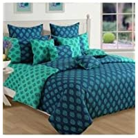 Swayam Shades N More Printed Cotton Single AC Comforter - Turquoise (ACS 11-2008)