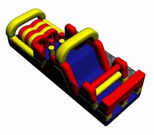 Inflatable Interactive 30 Foot Long Obstacle Course Includes 1.5 Hp Blower and Free Shipping