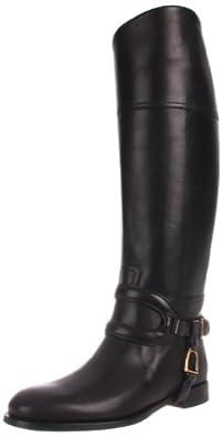 Ralph Lauren Collection Women's Sabella Riding Boot,Black High Polish Calf,6 B US