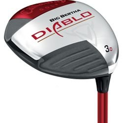 Callaway Big Bertha Diablo Fairway Wood (Draw, 3-Wood, Left-Handed, Graphite, Stiff, 3-Degree)