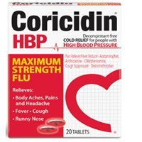 Coricidin Hbp Maximum Strength Flu Tablets - 20 Ea - 1