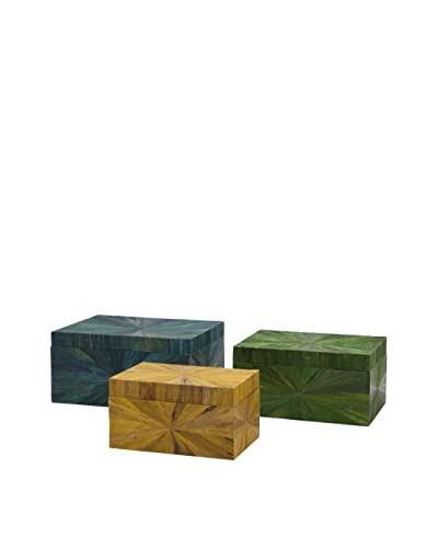 Max & Nellie Trinidad Set of 3 Water Hyacinth Boxes