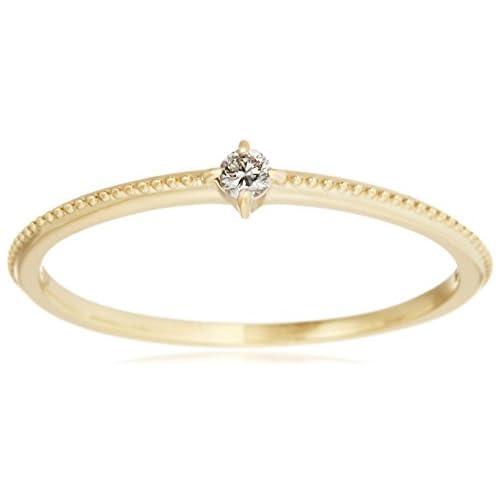 [VAヴァンドーム青山] VA VENDOME AOYAMA K10YG ダイヤモンド 1粒 ミルグレイン リング GJVR0138  DI 日本サイズ11号