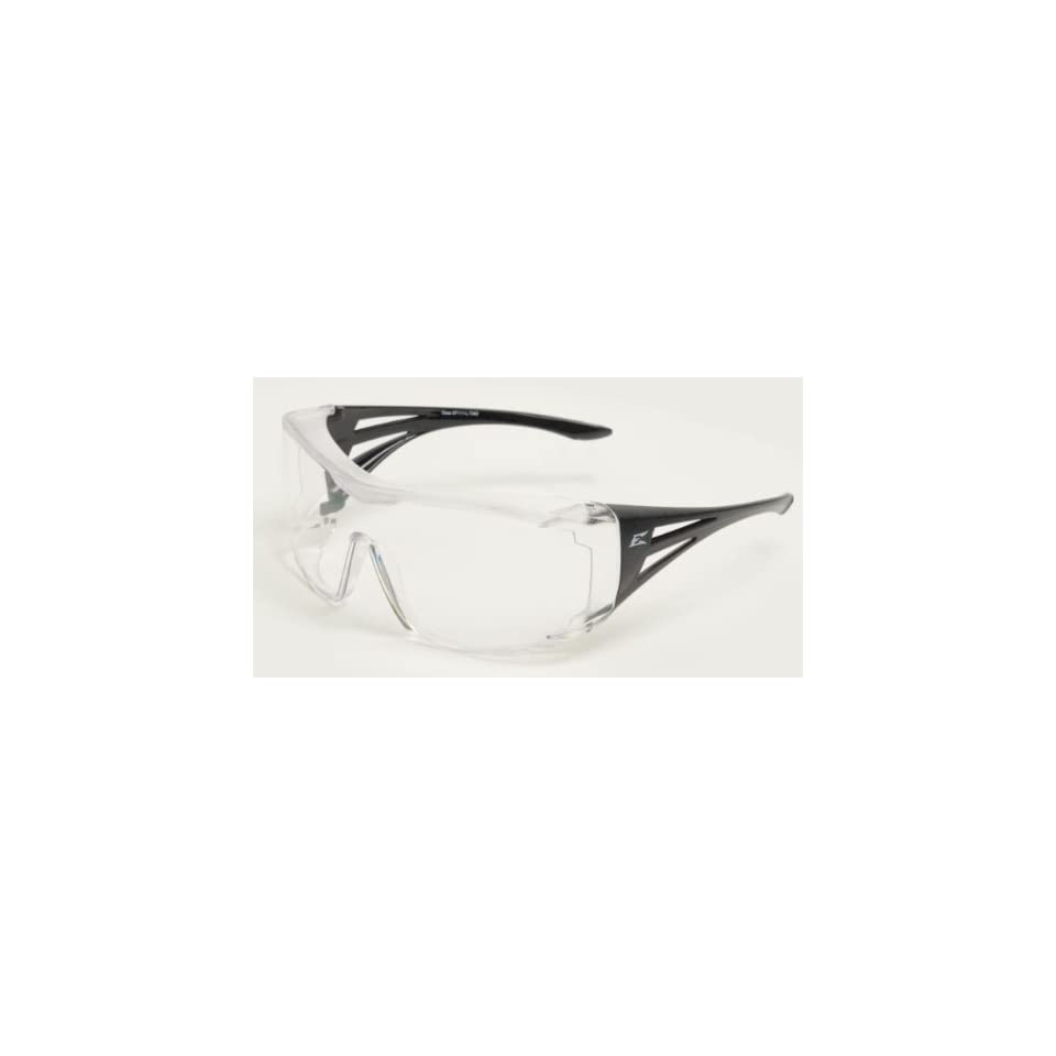 57a185139adf Edge Eyewear Ossa Fit Over Safety Glasses Black Frame