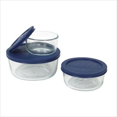 Pyrex Simply Store 6-Piece Glass Food Storage Set (Small Oven Glass compare prices)
