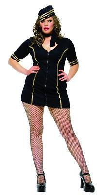 Miss Layover Sexy Women's Costume Adult Halloween Outfit - Size 1X/2X, Dress Size 16-20