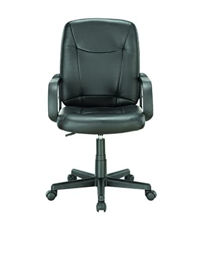Modway Turbo Mid Back Office Chair, Black