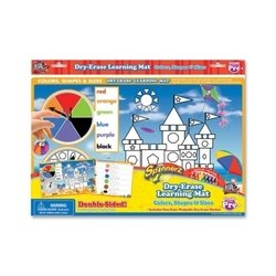 Board Dudes 99104UA12 Spinner Dry-Erase Mat, Colors/Shapes, Assorted - 1