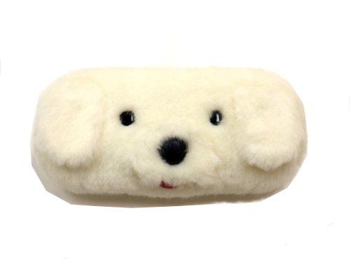 かわいいメガネケース どうぶつ アニマル BOXYシリーズ BX3-100 【白よこ犬】