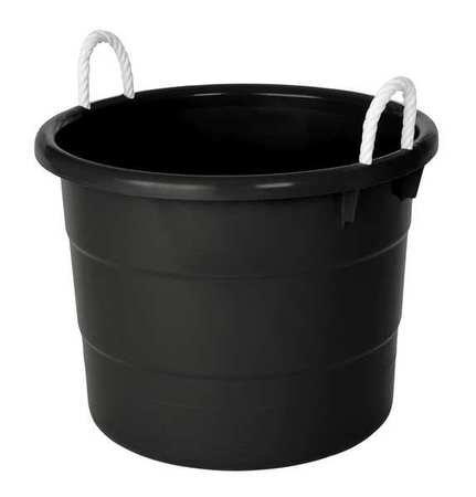 Storage Tub w/ Rope Handles, 18 Gal, Black (18 Gallon Storage Tubs compare prices)