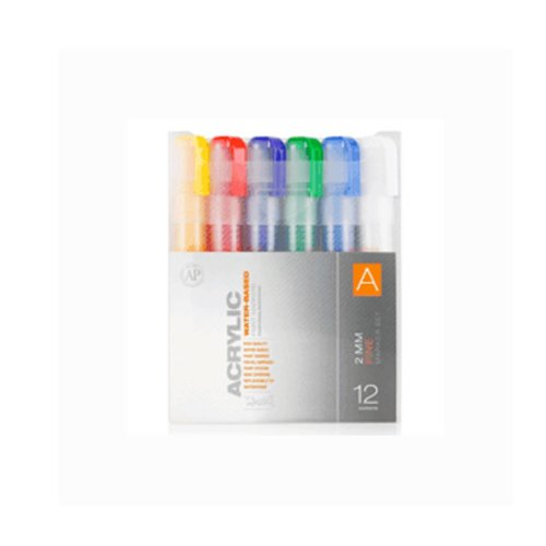 Montana Acrylic Marker 12er Set A 2mm (Montana Paint Pens compare prices)