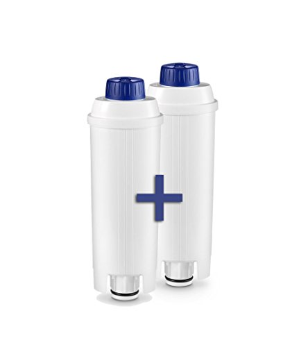 Delonghi Water Filter DLS C002 Pack (X2) for Delonghi Espresso and Bean to Cup Machines Home ...