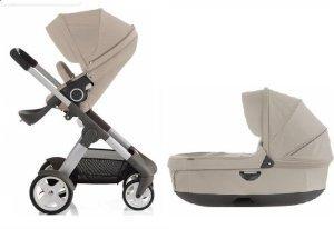Amazon.com : Stokke Crusi Stroller & Bassinet Combo (Beige) : Baby