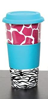 Double Wall Tumbler with Animal Patternm, Assorted Colors