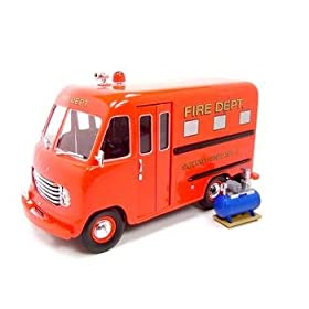 diecast van: 1950 Ford Step Van Fire Dept Truck Diecast Model truck