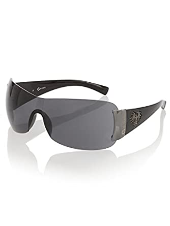 G by GUESS Men's Rimless Sunglasses with GBG Detail, BLACK
